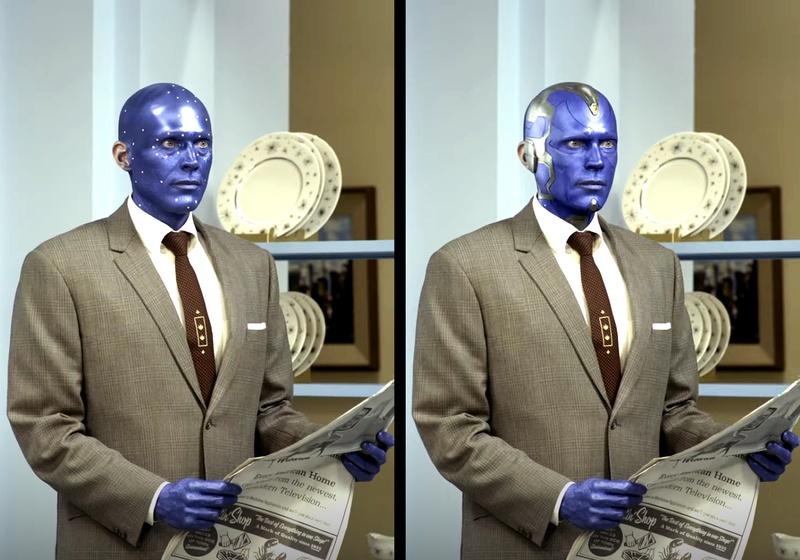 WandaVision Vision blue paint