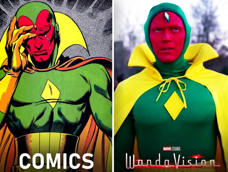 Vision Comics to WandaVision