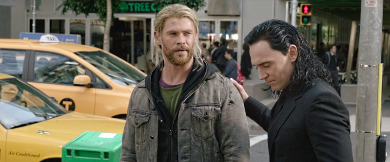 Loki consoling Thor after breakup