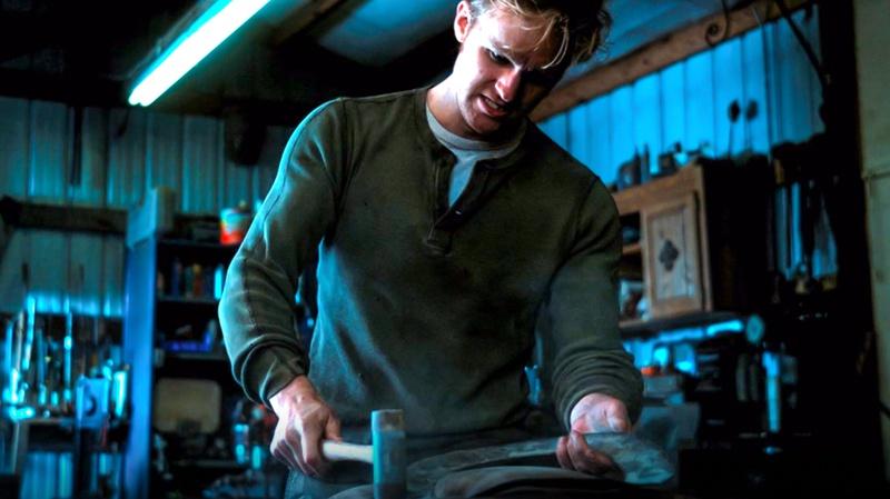 John Walker hammering shield