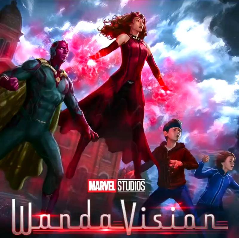 Wanda, Vision, Billy, Tommy, Marvel