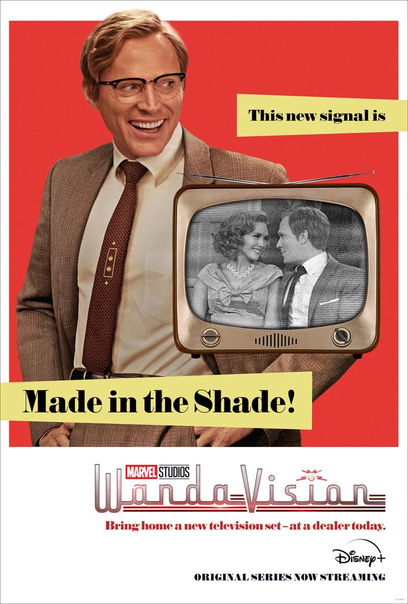 WandaVision 1950s poster Vision