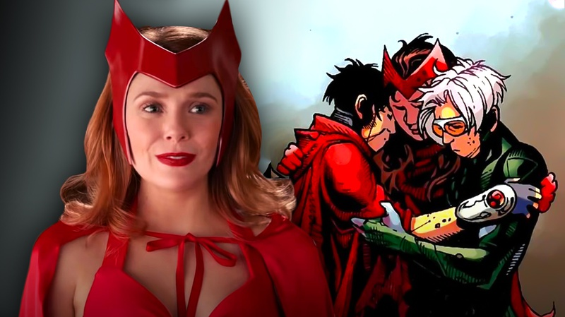 Wanda, Comic of Scarlet with Speed and Wiccan