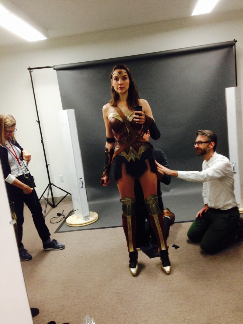 Gal Gadot costume test Batman V Superman