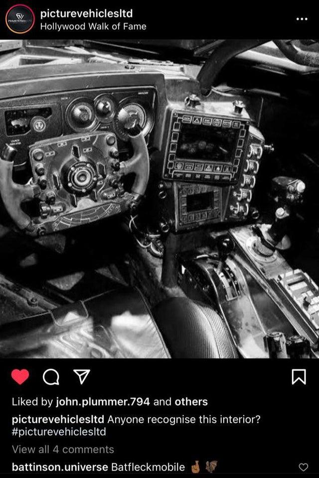 Ben Affleck Batmobile Interior